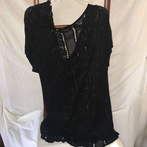Women's Black Scoop Neck Knit